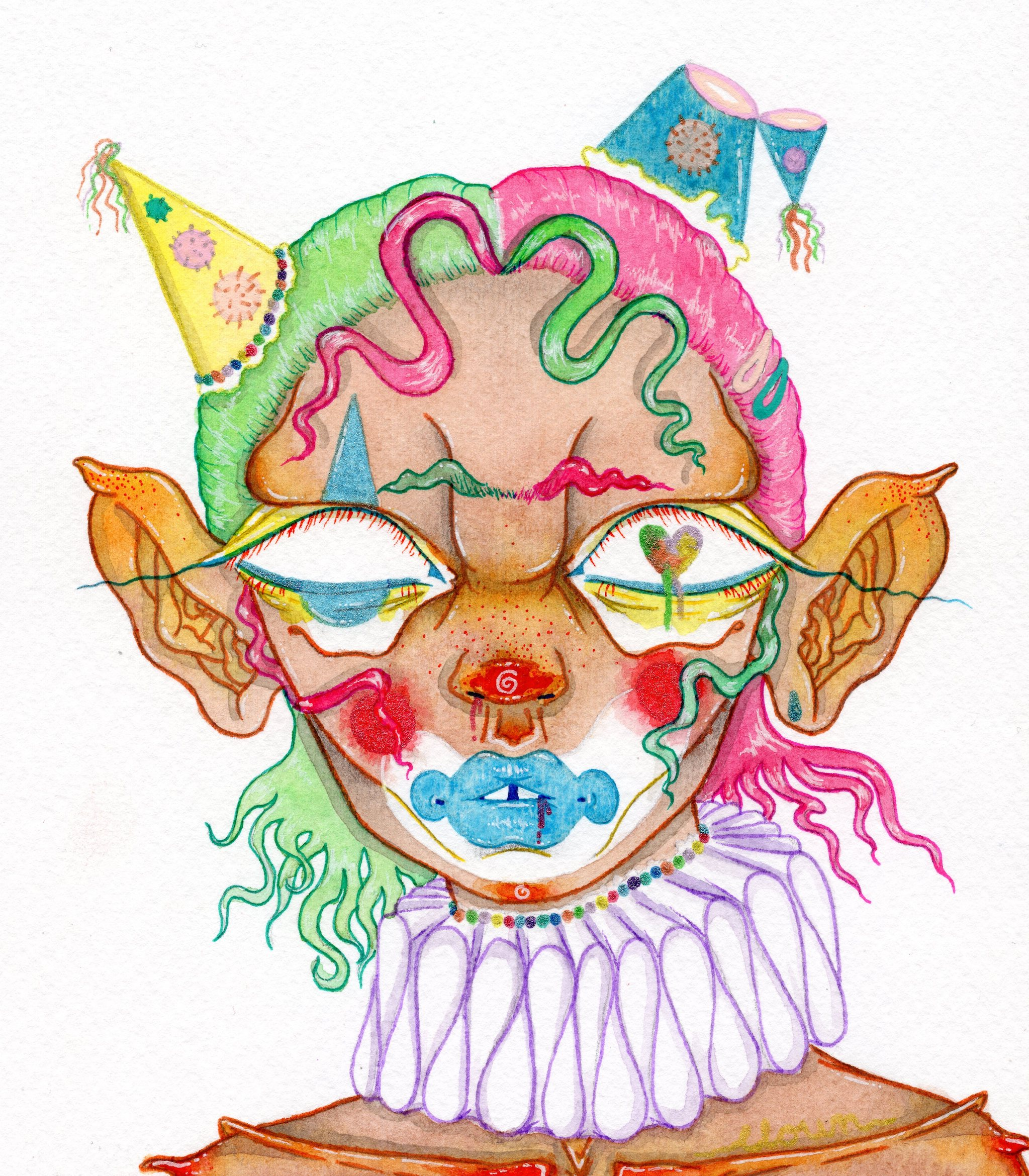 'Party Clown' Print