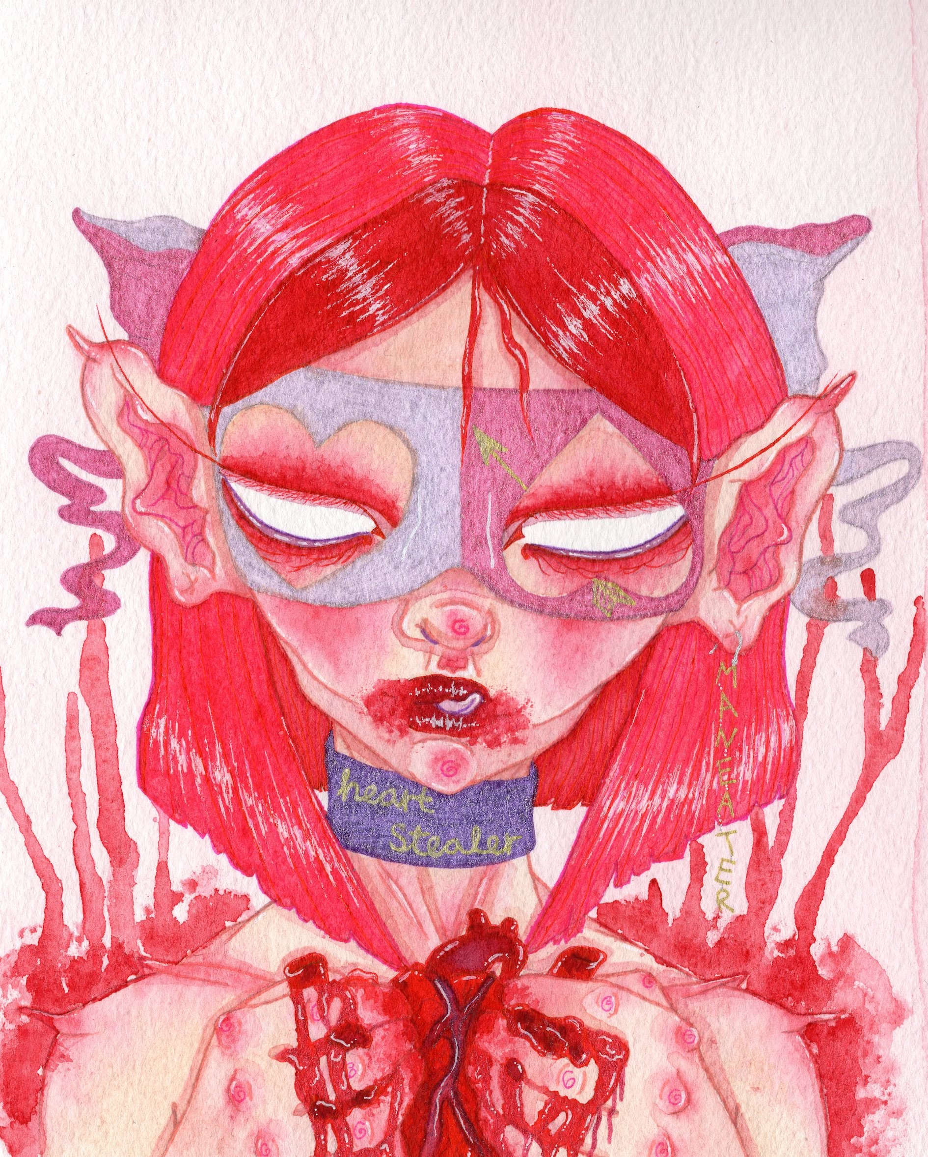'Heart Stealer/Maneater' Print